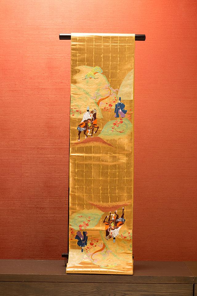 龍村美術織物・洛中万葉華翔馬図
